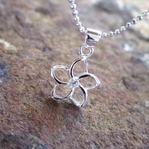 🆕Hawaiian Plumeria Sterling Silver Pendant